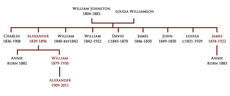 A pedigree of the Johnston family